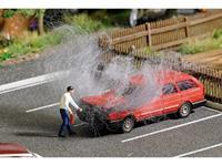 Busch 7881 H0 Volkswagen Passat motorbrand met figuur