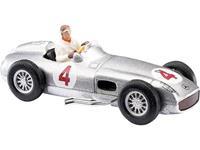 Busch 47002 H0 Mercedes Benz Zilveren pijl met bestuurder J. M. Fangio