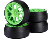 Reely 1:10 Straatmodel Complete wielen Drift Y-spaken Groen 1 stuk(s)