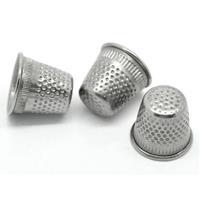 3x Vingerhoedje in verschillende maten Zilver - vingerhoedjes