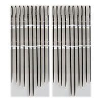 20x Stopnaalden/borduurnaalden 55, 60 en 65 mm Zilver - Naainaalden