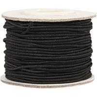 Zwart elastiek op rol 1 mm x 20 meter hobbymateriaal - Knutselartikelen