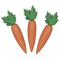 Rayher hobby materialen 6x stuks decoratie wortelen 6 cm - Decoratief object