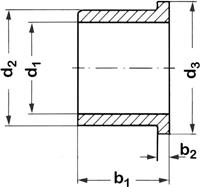 reely Kraagbus Binnendiameter: 6 mm Buitendiameter: 10 mm Breedte: 15 mm 1 stuk(s)