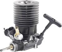 Force Engine nitromotor 38 Black Series vermogen 3.9 pk / 2.87 kW cilinderinhoud uitlaatpoort Achterkant