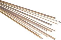 reely Messing Vierkant Buis (l x b x h) 500 x 6 x 6 mm Binnendiameter: 4 mm 1 stuk(s)