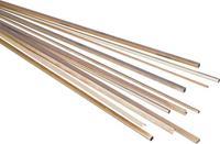 reely Messing U-profiel (l x b x h) 500 x 3 x 1 mm 1 stuk(s)