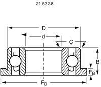 reely Groefkogellager, radiaal Chroomstaal Binnendiameter: 4 mm Buitendiameter: 9 mm Toerental (max.): 53000 omw/min