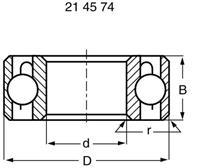 reely Kogellager, radiaal RVS Binnendiameter: 2 mm Buitendiameter: 6 mm Toerental (max.): 85000 omw/min