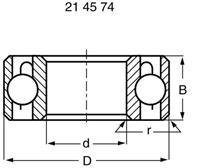 reely Kogellager, radiaal RVS Binnendiameter: 10 mm Buitendiameter: 15 mm Toerental (max.): 43000 omw/min