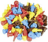 viessmann 6831 Modelspoor stekker 40 stuk(s) Rood, Geel, Blauw, Bruin