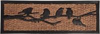 esschertdesign Esschert Design deurmat 25 x 75 cm kokosvezel/rubber bruin/zwart