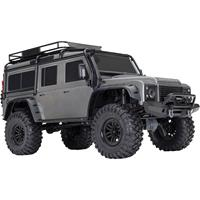 traxxas Landrover Defender Zilver Brushed RC auto Elektro Crawler 4WD RTR 2,4 GHz
