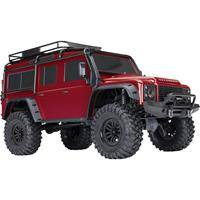 traxxas Landrover Defender Rood Brushed RC auto Elektro Crawler 4WD RTR 2,4 GHz
