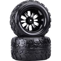Reely 1:10 Monstertruck Complete wielen Zwart 2 stuk(s)