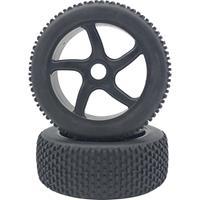 Reely 1:8 Buggy Complete wielen Minipin 5-spaaks Black 1 paar