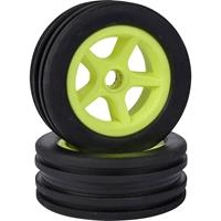 Carson Modellsport 1:10 Buggy Complete wielen Neon-geel 4 stuk(s)