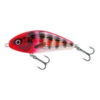 Salmo Fatso Floating - Jerkbait - Hollow Red Head Striper - 10cm