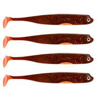 Eurocatch Fishing Zander Gummifisch - Shad - UV Moteroil - 15cm - 4st