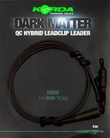 Korda Dark Matter Leader QC Hybrid Clip - Weed - 40lb - 1.00m
