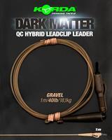 Korda Dark Matter Leader QC Hybrid Clip - Gravel - 40lb - 1.00m