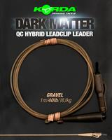 Korda Dark Matter Leader QC Hybrid Clip - Gravel - 40lb - 50cm