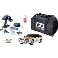 Tamiya TT-02 Audi Quattro Rally Brushed 1:10 RC auto Elektro Straatmodel 4WD Voordeelset 2,4 GHz Exclusieve set