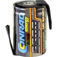 Conrad energy Accucel NiMH 4/5 sub-C 1.2 V 2200 mAh  Met soldeerlip