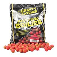 Crafty Catcher Fast Food Strawberry & Krill - Boilies - 15mm - 500g