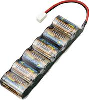 Conrad energy NiMH accupack 7.2 V 1300 mAh Aantal cellen: 6 Side by Side Micro-car-bus