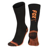 FOX Black/Orange Thermolite Long Sock - Maat 40-43