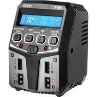 SKYRC T100 Modelbouwoplader 5.0 A Lood, LiFePO, LiHV, Li-ion, Li-poly, NiCd, NiMH Tijd-uitschakeling, Grafische weergave