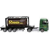 Wiking 053606 H0 MAN TGX trekker met tankcontaineroplegger Rinnen