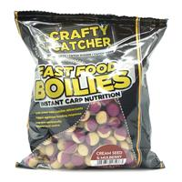 Crafty Catcher Fast Food Cream - Seed & Mulberry - Boilie- 15mm - 500g