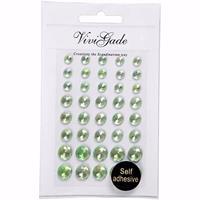 Merkloos Hobby/knutselen groene plak parels steentjes 120x stuks -
