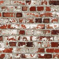 Merkloos Dutch Wallcoverings Behang Brick Rood