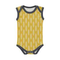 Fresk Havre Romper Zonder Mouw Vintage Yellow Newborn