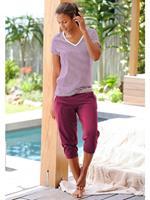 H.I.S capripyjama met gestreept T-shirt en casual broek