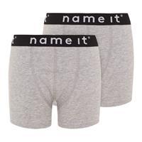 Name it !2-Pack Boxer - Grijs - Katoen/elasthan