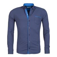 Young & Rich Overhemd Blauw
