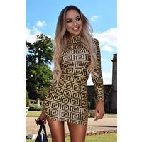 Exclusivepremium Faria High Neck Dress Mustard