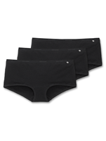 Schiesser 3-Pack Basic Shorts Zwart