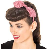 Fiftiesstore Riley Headband Red/White
