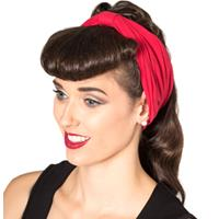 Fiftiesstore No Talking Headband Red