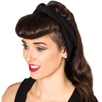 Fiftiesstore No Talking Headband Black