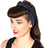 Fiftiesstore No Talking Headband Navy