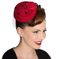 Fiftiesstore Marilyn Fascinator Rood