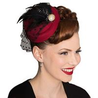 Fiftiesstore All A Dream Fascinator Wijnrood