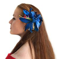 Fiftiesstore HM Corsage Julie Lily Orchid Blue