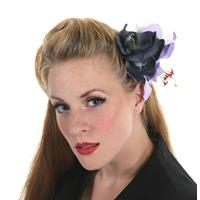 Fiftiesstore HM Corsage Purple Reign
